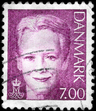 DENMARK - CIRCA 2000: A Stamp printed in DENMARK shows the portrait of a Queen Margrethe II (born 16 April 1940), series, circa 2000 Stock Photo - 11615226
