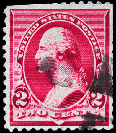 USA - CIRCA 1890: A Stamp printed in USA shows the portrait of a George Washington (1732-1799), series, circa 1890 Stock Photo - 11967473