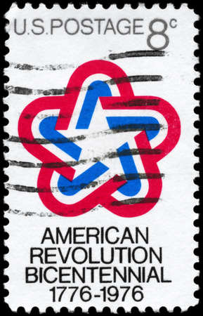 american revolution: USA - CIRCA 1971: A Stamp printed in USA devoted to American Revolution Bicentennial, circa 1971