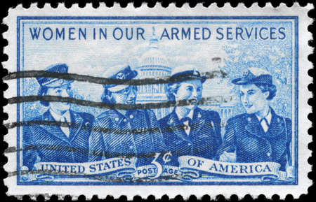 armed services: USA - CIRCA 1952: A Stamp printed in USA devoted to Honoring the women in the US Armed Services, circa 1952