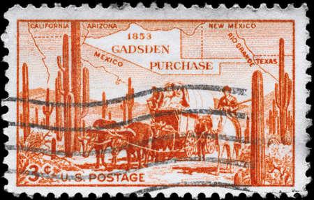 アメリカ合衆国 - 年頃 1936 年: A 切手が米国で印刷された地図の ...