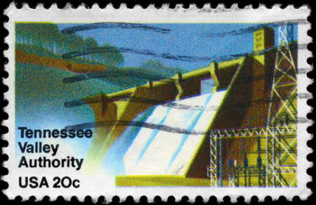 USA - CIRCA 1983: A Stamp printed in USA shows the Hydroelectric Dam, Tennessee Valley Authority issue, circa 1983