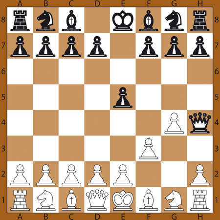 The quickest mate on the chessboard Vector