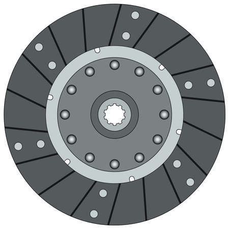 Clutch disk on a white background Ilustracja