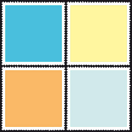 Set of a postage stamps icons Stock Vector - 12770589