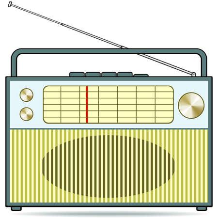 portable radio: El receptor de radio retro