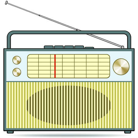 The retro radio receiver Stock Vector - 12777058