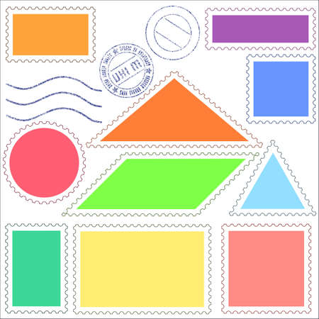 Set of a postage stamps icons Vectores