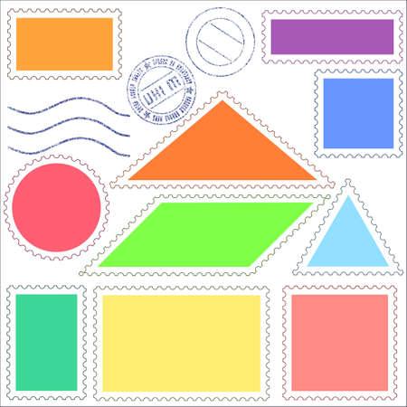 parallelogram: Set de iconos de unos sellos de correos