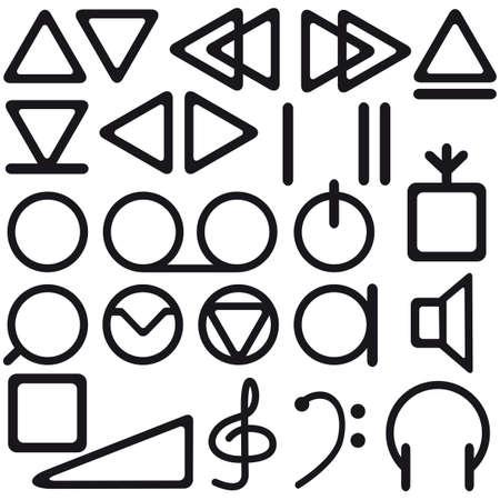 magnetofon: Zestawie symboli magnetofon