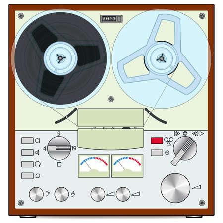 recorder: The retro audio tape recorder