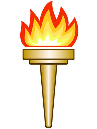 The Torch icon on a white background  Illustration