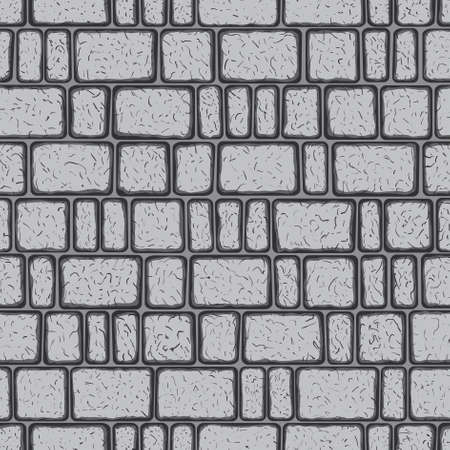 Seamless pattern of the pavestone coating Vector