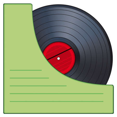 Gramophone disk in an envelope Vector