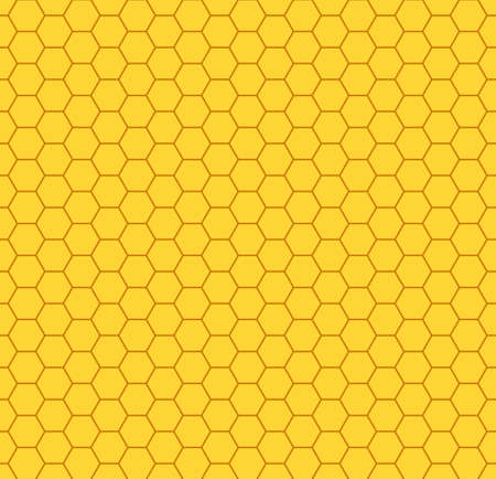 Seamless pattern of a honeycombs Illustration