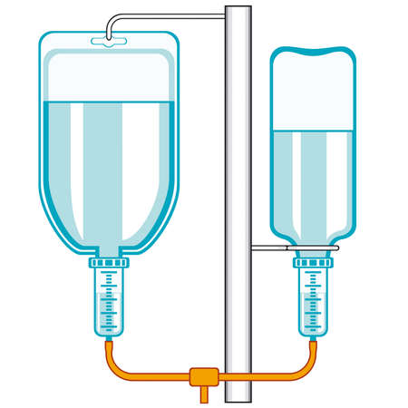 Intravenous dropper icon on a white background