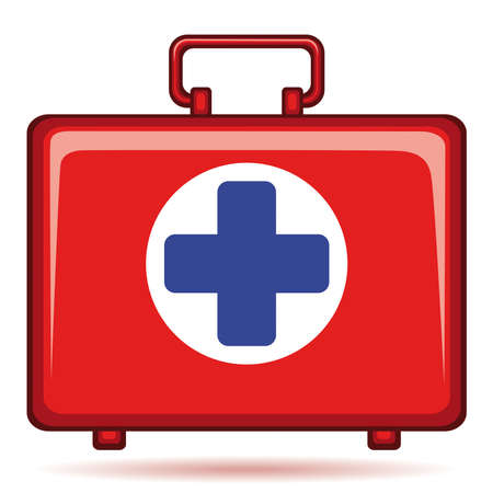 Medicine chest icon on white background Vector
