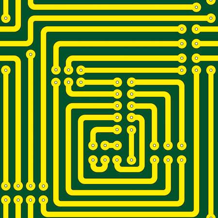esquemas: Patr�n sin fisuras de una placa de circuito impreso Vectores