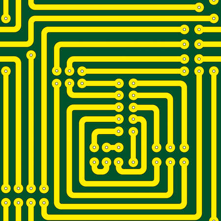Seamless pattern of a printed circuit board Vector