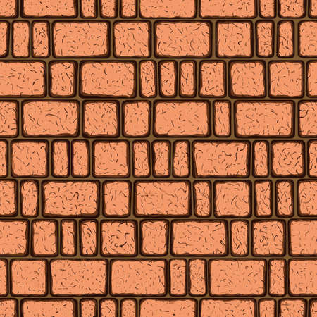 Seamless pattern of the brickwork Stock Vector - 12940081
