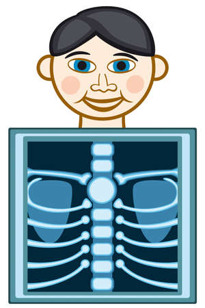 radiography: X-ray icon on white background