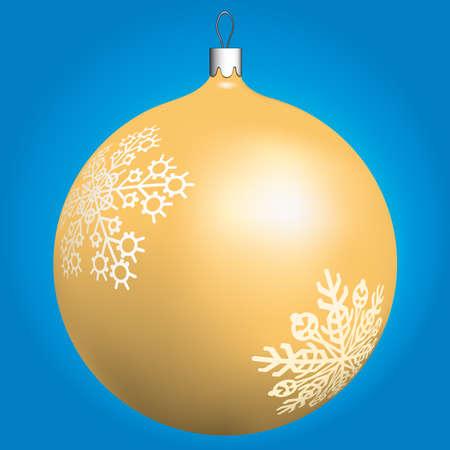 Gold Christmas ball for design Stock Vector - 13028625