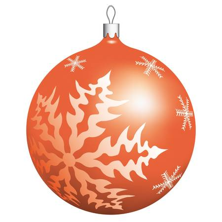 Christmas ball isolated on white background Stock Vector - 13028622