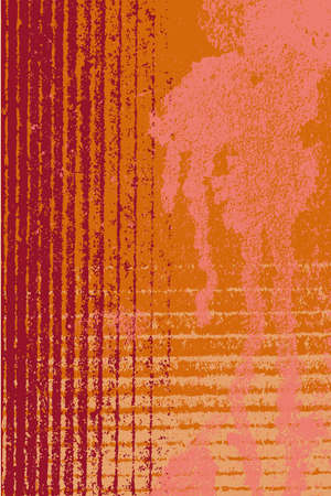 Grunge stained and striped surface as a background Illustration