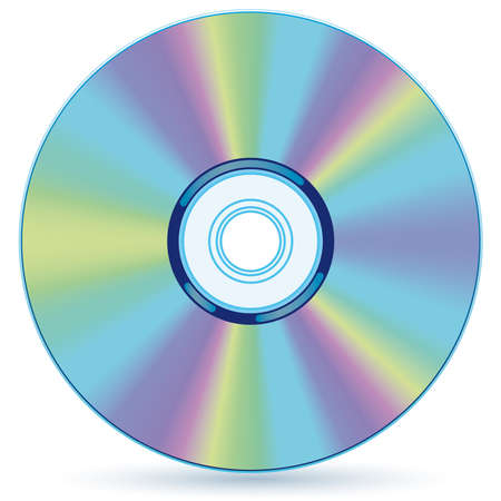 optical disk: Vector compact disc - blend and gradient only Illustration