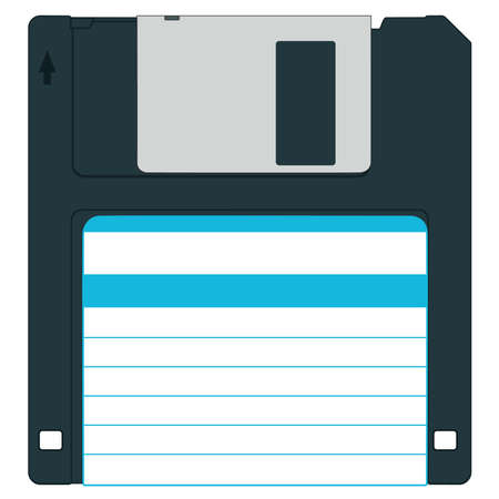 Floppy disk for vaus designs - without gradients Stock Vector - 13076121