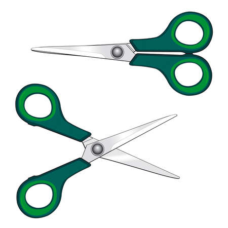 Small scissors for vector design Vector
