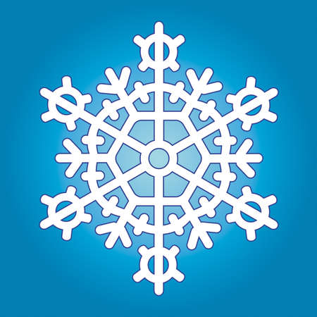 crystal snowflake: Snowflake for vector design