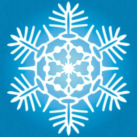 Snowflake for vector design Vector