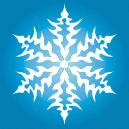 The snowflake for vector design Stock Vector - 13076139