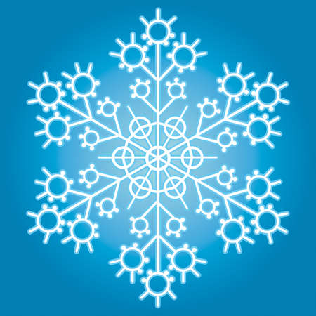 The snowflake for vector design Vector
