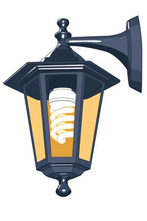 Street lamp for vector design Vector