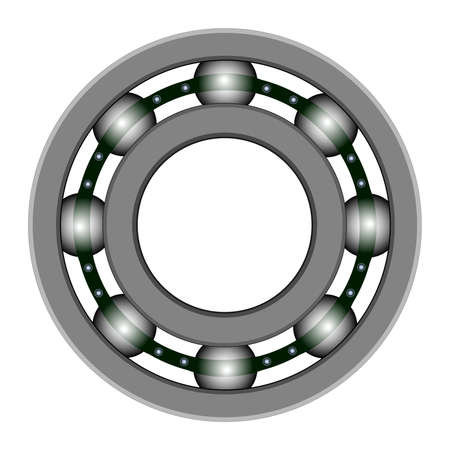 Ball bearing for vector design. Files included - EPS8, CS3,  SVG, JPEG and PNG with a transparent background Vector