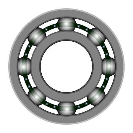 maschinenteile: Kugellager f�r Vektor-Design. Dateien enthalten - EPS8, CS3, SVG, JPEG und PNG mit transparentem Hintergrund