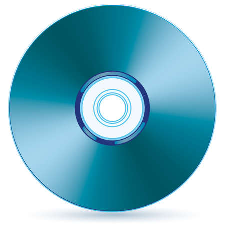 Vector compact disc - blend and gradient only Illustration