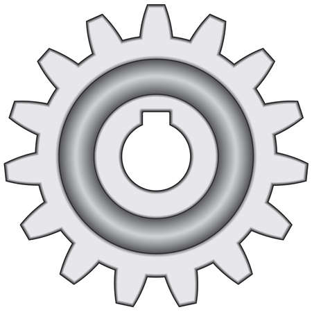 Pinion gear on white background - blend only Stock Vector - 13107810