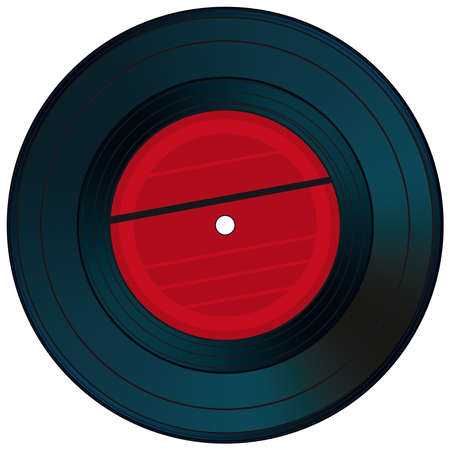 single songs: Gramophone disc on a white background