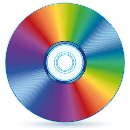 Vector compact disc - blend and gradient only Ilustracja