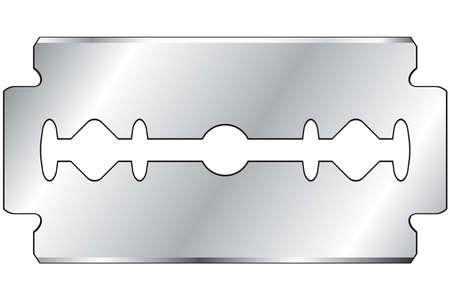 Razor blade on a white background Çizim