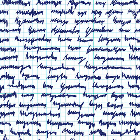 unreadable: Seamless pattern of abstract scrawl Illustration