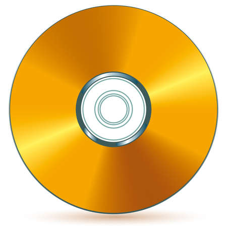 Gold compact disc - blend and gradient only