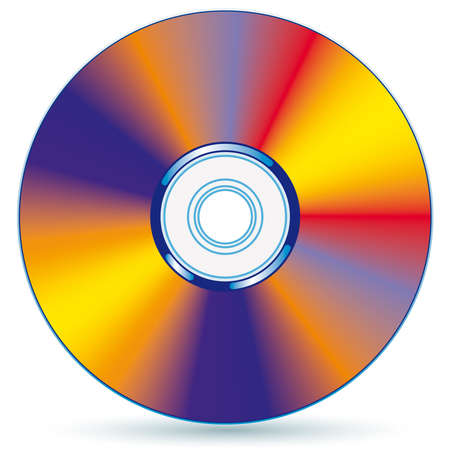 compact disc - blend and gradient only Vector