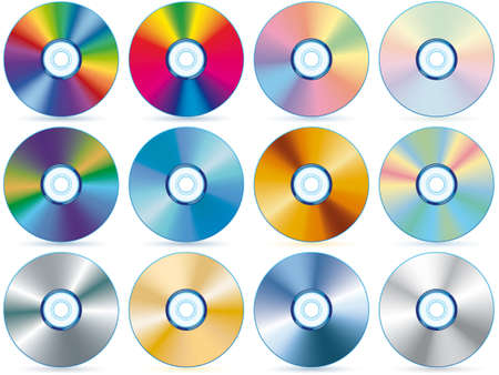 Compact disc collection - blend and gradient only