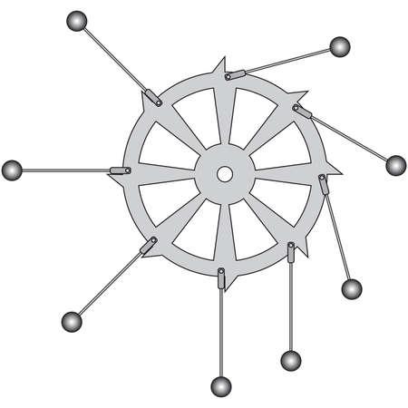 impulse: Sample perpetuum mobile for various education designs Illustration