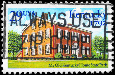 USA - CIRCA 1992: A Stamp printed in USA shows Kentucky Home State Park, Statehood Bicentennial, circa 1992 photo