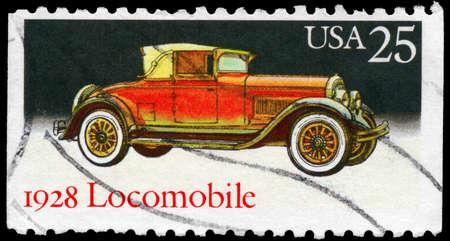 USA - CIRCA 1988: A Stamp printed in USA shows the Locomobile (1928), Classic Automobiles series, circa 1988